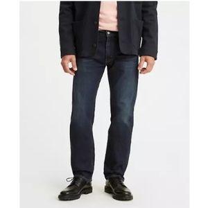 Levi's 505 Regular Fit Dark Wash Denim Jeans 40x32
